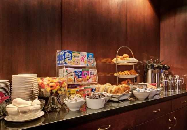 Complimentary Continental Breakfast Buffet