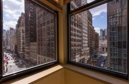 Enjoy views of the New York Public Library and Madison Avenue from the Junior Suite.