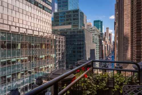 Enjoy unobstructed views of Madison Avenue from your private terrace