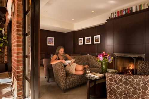 As a guest of the Library Hotel, you are welcome to enjoy the Writer's Den throughout the day, unless the space is booked for a private function.