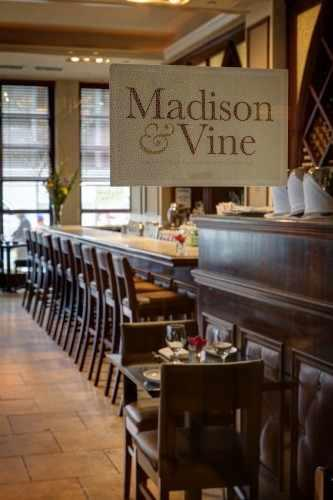 Our onsite restaurant, Madison & Vine, is an International Wine Bar and Bistro.
