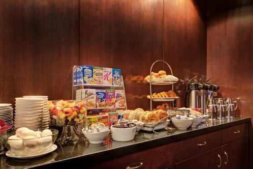 The Library Hotel offers continental breakfast buffet served every morning from 7 AM-10:30 AM in the Reading Room.