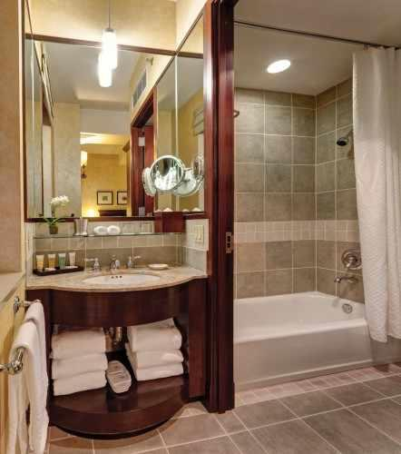 Our Petite Rooms have a separate sink and bathroom area.