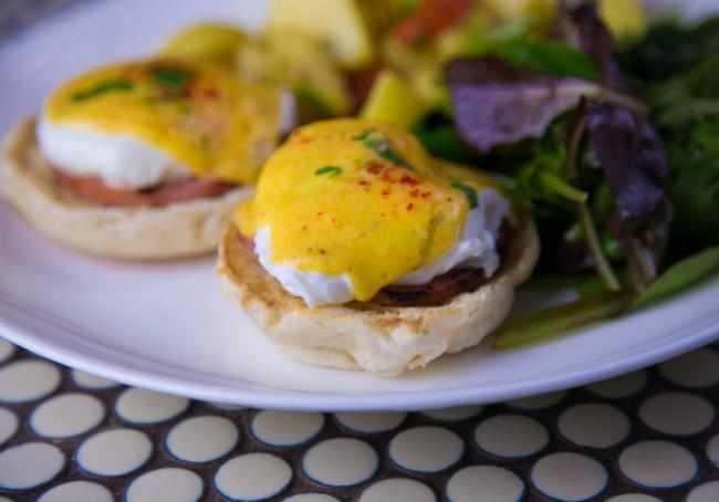 Treat yourself to a delicious brunch at Madison & Vine.