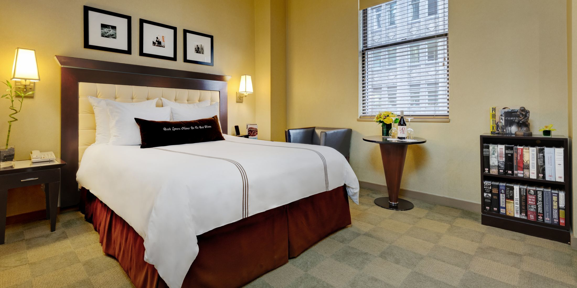 Deluxe Room with One Queen Bed with a Roll In Shower.