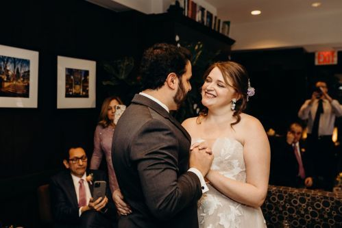 Share your first dance together in our Writer's Den on your special day. Photo by: Lauren Spinelli Photography