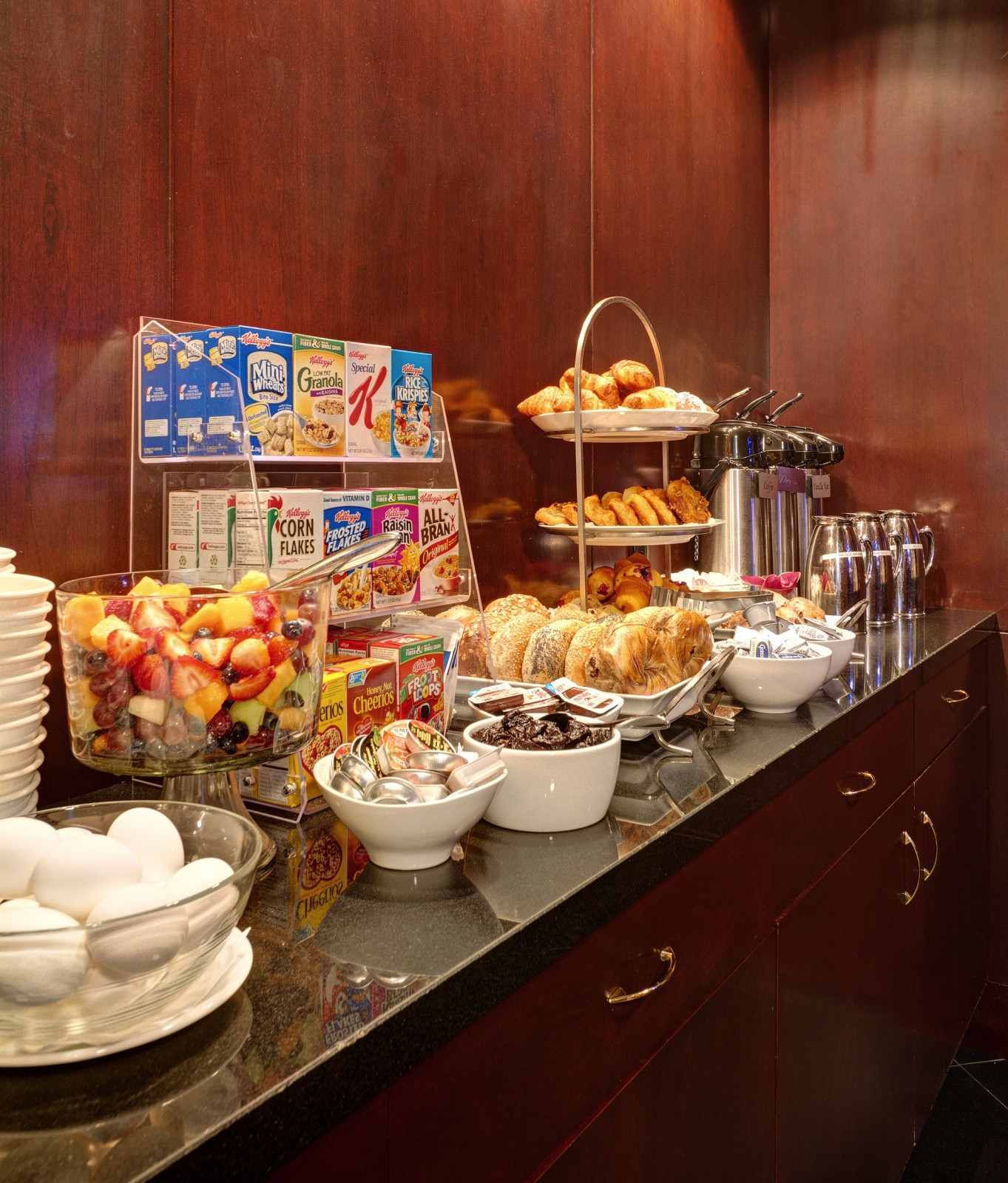 Library Hotel Offers A Complimentary Continental Breakfast Every Day For Our Guests